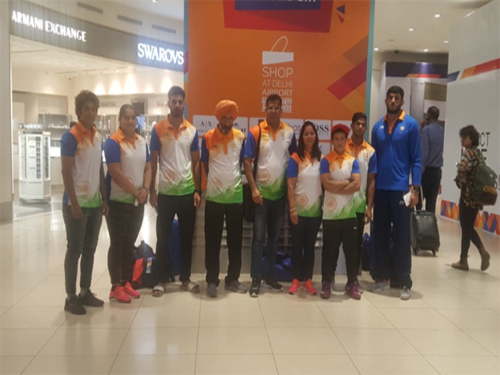 Indian Judo Team participating in the 18th Asian Games,  Jakarta
