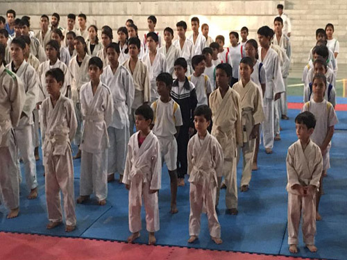 Young Judokas in the IJF Education Class at Dehradun