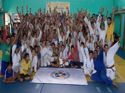 Gurdaspur with IJF Delegation at end of Judo Educational Journey at Gurdaspur