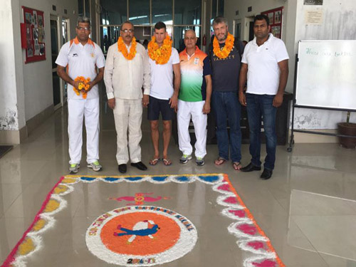 Haryana Judo Officials and JFI President welcomes IJF Delegation at Narnaul
