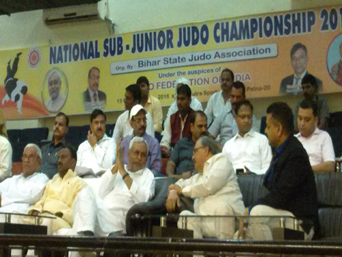 JFI Preseident and General Secretary with Shri. Nitish Kumar, Hon'ble CM