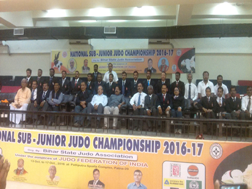 Technical Team of the Sub-Junior National Judo Championships 2016-17 Patna