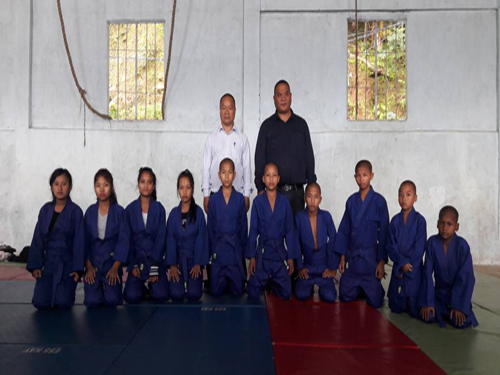 Judokas of TNT Orphanage School, Aizawl, with JFI gifted Uniform